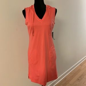 New York & Co Pink Hooded Dress